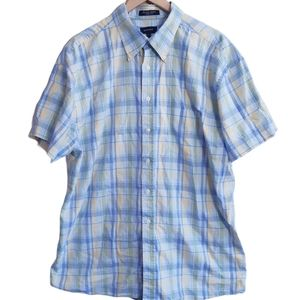 Gant   checked gingham short sleeve button up top